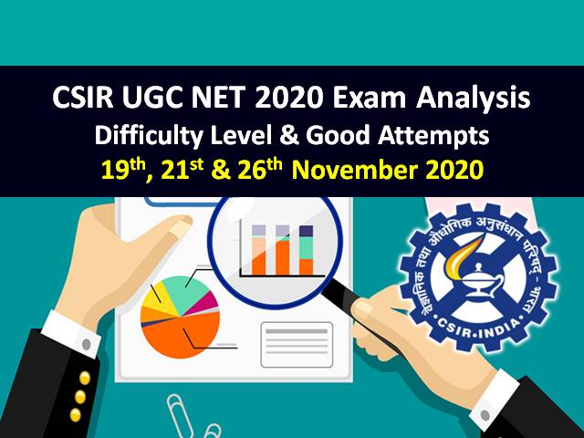 NTA CSIR UGC NET 2020 Exam Analysis (26th Nov Exam Postponed in Tamil Nadu & Puducherry): Exam Level-'Moderate to Difficult', Check Good Attempts to clear CSIR NET Cutoff