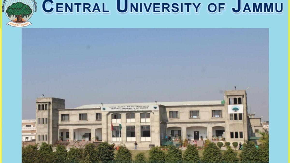 Central University of Jammu Recruitment 2019