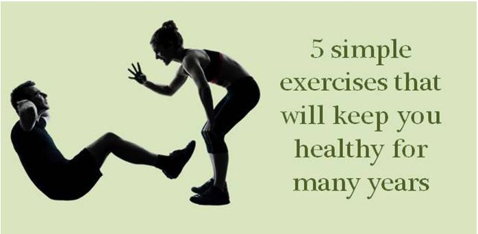 10 simple exercises that will keep you healthy for many years