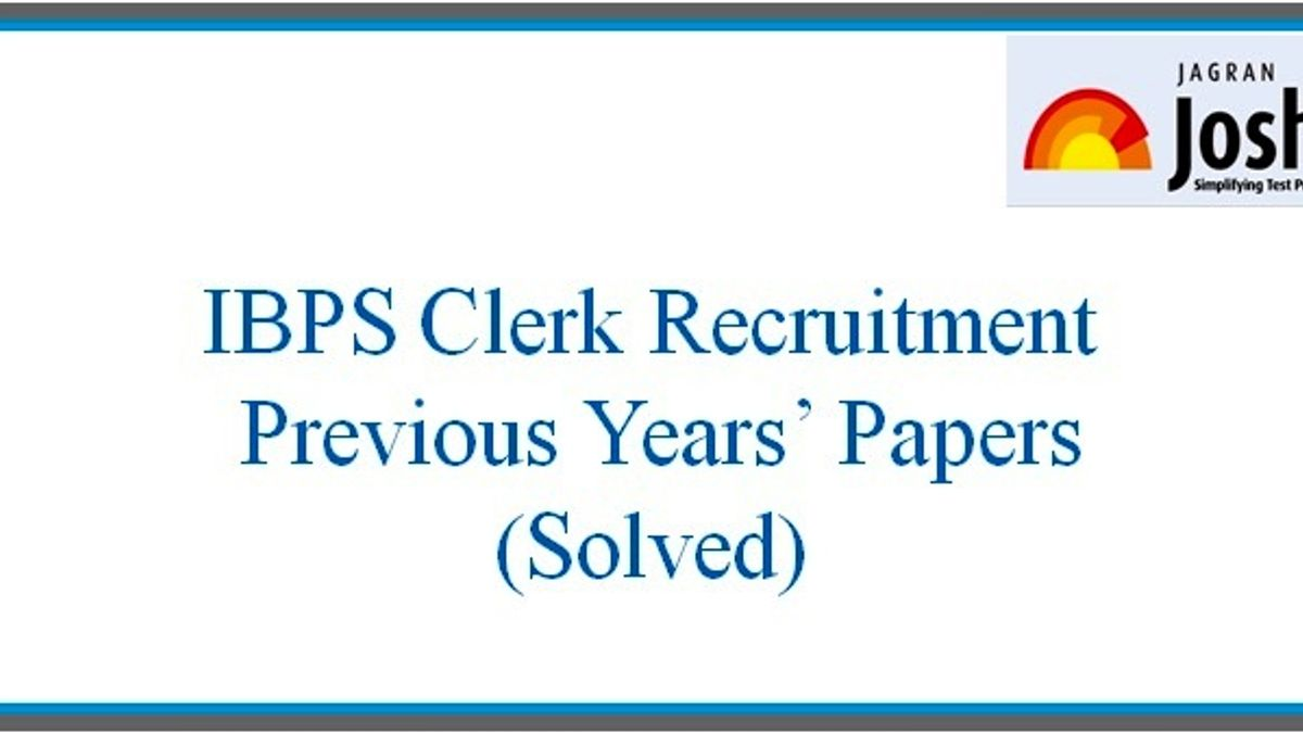 IBPS Clerk Question Paper 2017