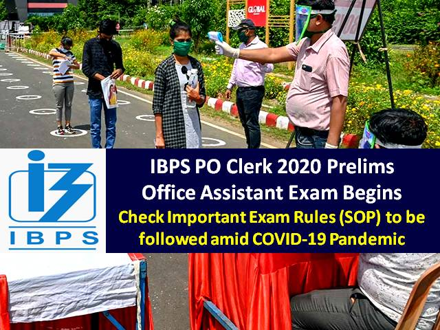 IBPS RRB Clerk 2020 Prelims Exam Begins for Office Assistant Posts: Check Important Exam Rules (SOP) to be followed amid COVID-19 Pandemic