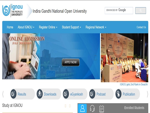 Indira Gandhi National Open University (IGNOU) Online for Assistant Professor Posts 2020