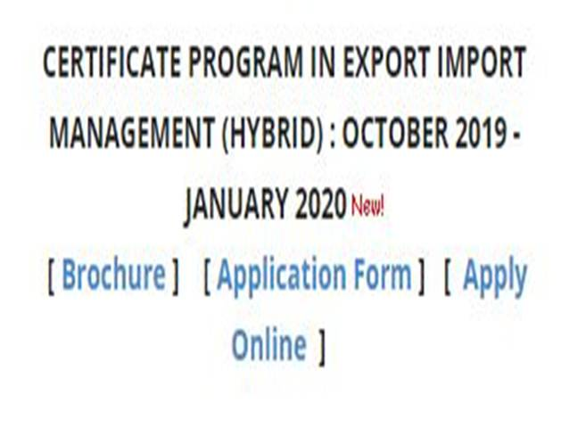 IIFT Certificate Program in Export Import Management