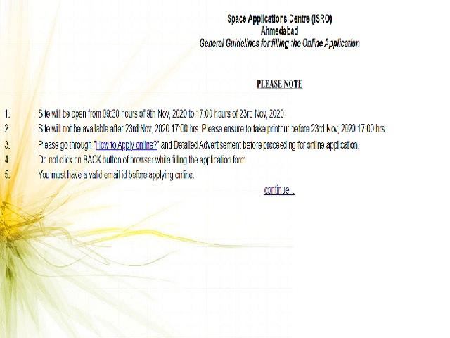 ISRO SAC Apprentice Notification 2020