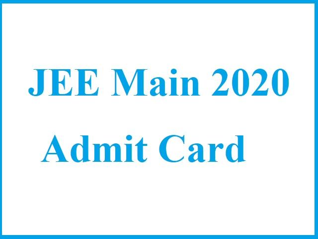 NTA JEE Main 2020 Admit Card & Updates