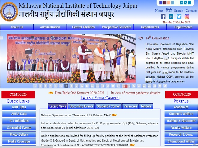 Malaviya National Institute of Technology (MNIT) Jaipur Online for Faculty Posts 2020
