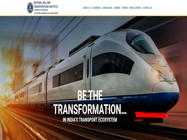 National Rail and Transportation Institute (NRTI) Online for Non- Teaching & Teaching Posts 2020