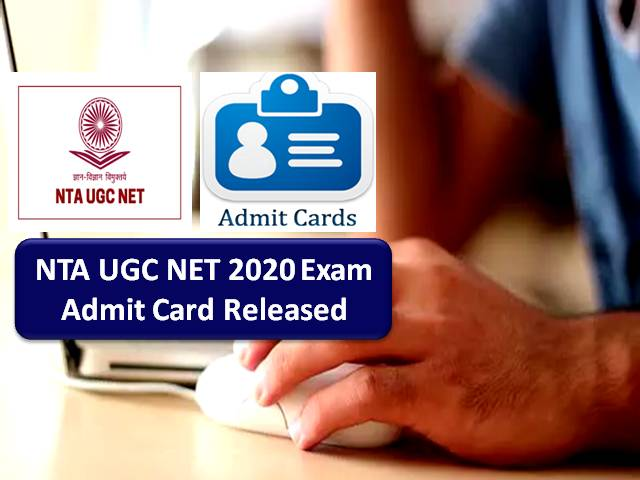 UGC NET Admit Card 2020 Released by NTA for Remaining Subjects (4th/5th/11th/12th/13th Nov) @ugcnet.nta.nic.in: Get Direct Link to Download Admit Card