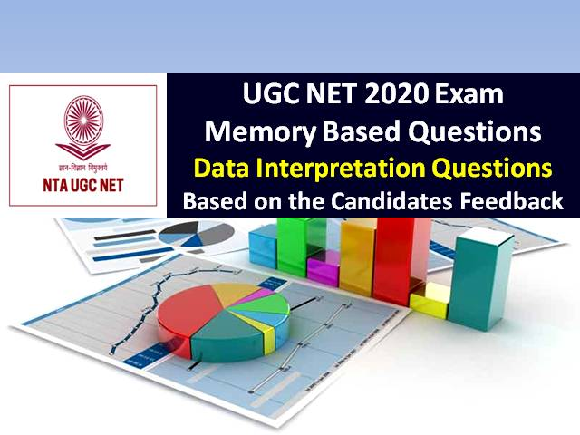 UGC NET 2020 Exam Memory Based Data Interpretation Questions with Answers: Check UGC NET Exam 2020 Questions based on the feedback shared by the candidates