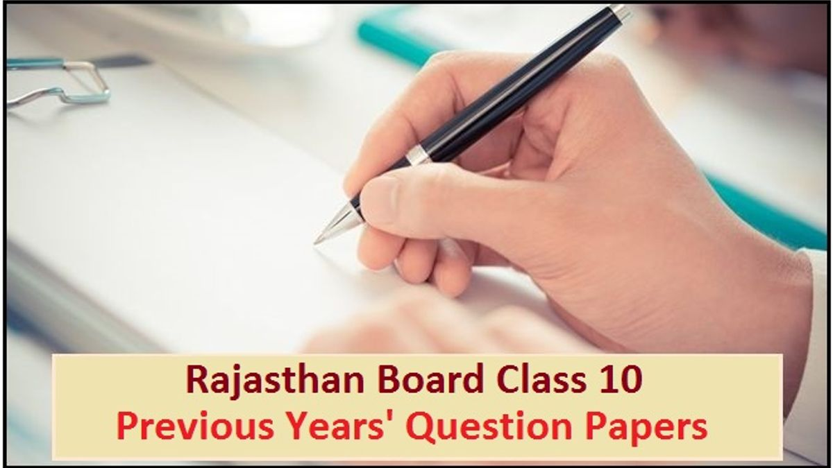 Rajasthan Board Class 10 Previous Year Question Papers