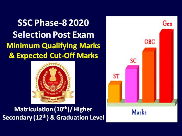 SSC Phase-8 2020 Selection Post Exam Expected Cutoff Categorywise (Answer Key Released): Check 10th, 12th, Graduation Level SSC Exam's Expected Cutoff & Minimum Qualifying Marks