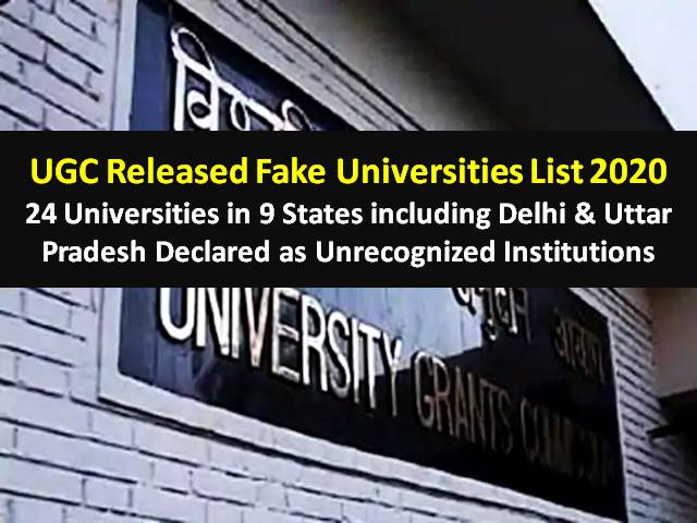 UGC 2020 Fake University List Official Released: 24 Universities in 9 States including Delhi & Uttar Pradesh Declared as Unrecognized Institutions