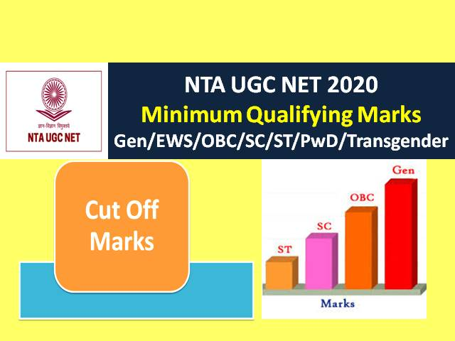 UGC NET 2020 Exam Minimum Qualifying Marks: Check Categorywise (Gen/EWS/ OBC/SC/ST/ PwD/Transgender) UGC NET Minimum Passing Marks 2020 for JRF & Assistant Professor