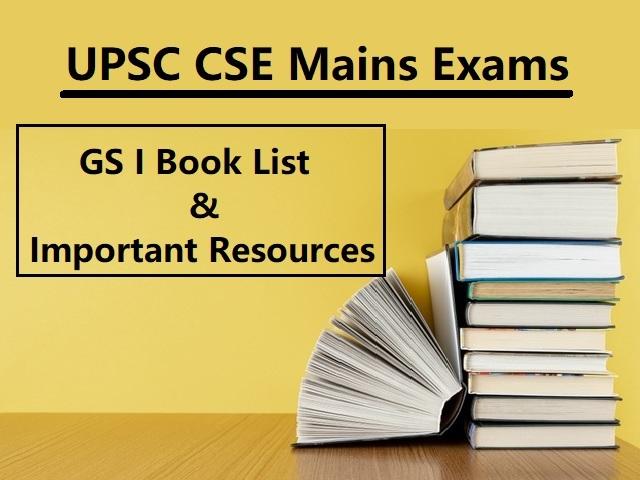 UPSC IAS Mains 2020: GS I Book List & Important Resources for Preparation
