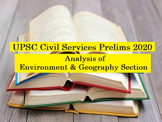 UPSC IAS Prelims 2020: Check Detailed Analysis of GS Paper I (Environment and Geography Section)