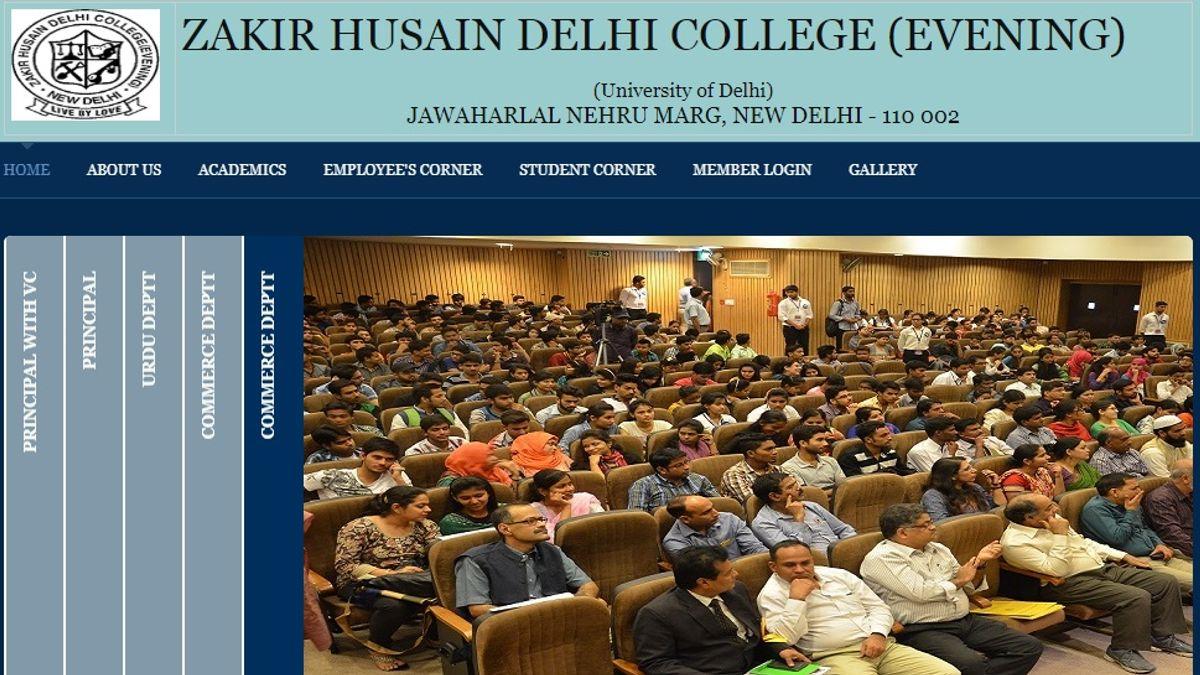 University of Delhi Principal (Zakir Husain Delhi College Evening) Post 2019