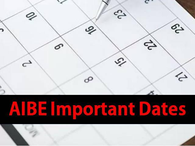 AIBE 2021 Important Dates