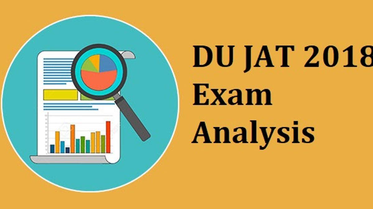 DU JAT 2018 Exam Analysis