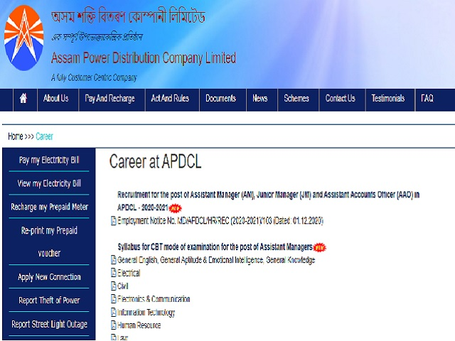 APDCL Recruitment 2020-21