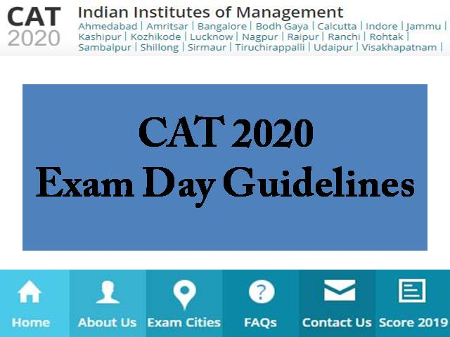 CAT 2020 Exam Day Guidelines