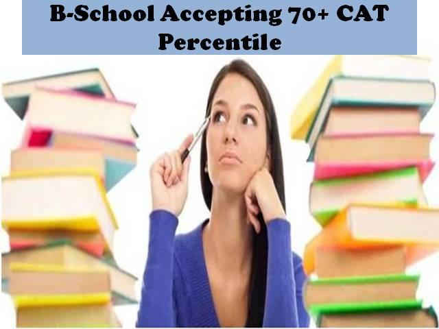 B Schools Accepting 70+ CAT percentile score
