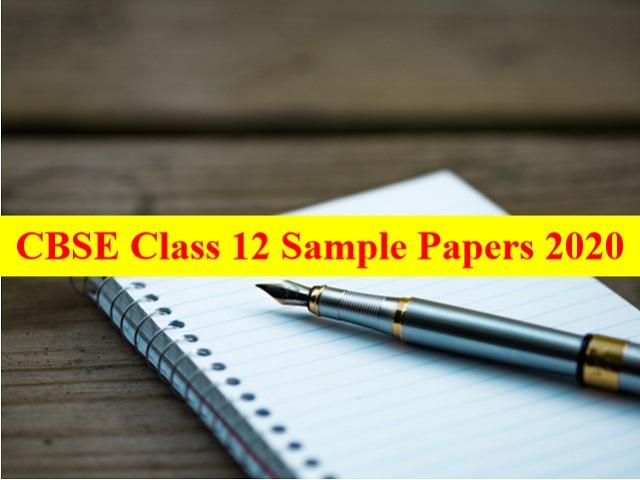 CBSE Class 12 Sample Paper 2021 & CBSE Class 12 Marking Scheme 2021 for All Subjects - Download PDFs