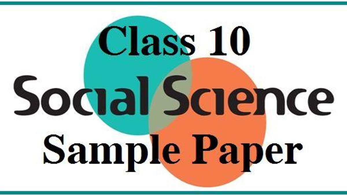 CBSE Class 10 Social Science Sample Paper