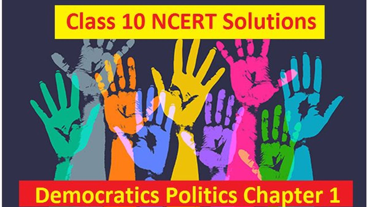 NCERT Solutions for Class 10 Democratic Politics Chapter 1 Power Sharing