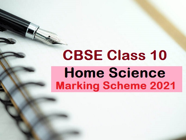CBSE Class 10 Home Science Marking Scheme for Sample Paper 2021