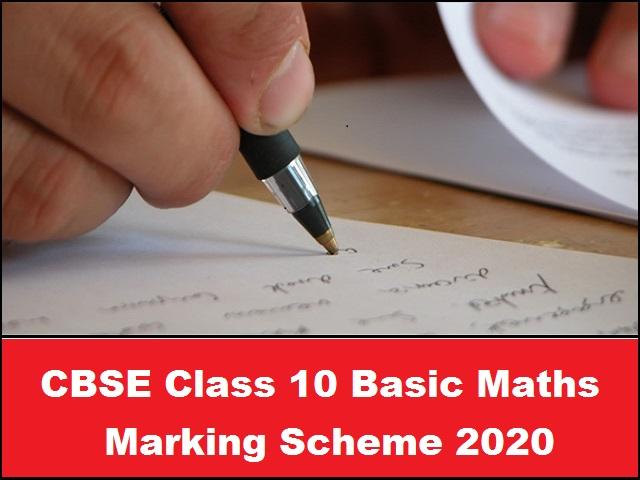 CBSE Class 10 Basic Maths Marking Scheme 2020