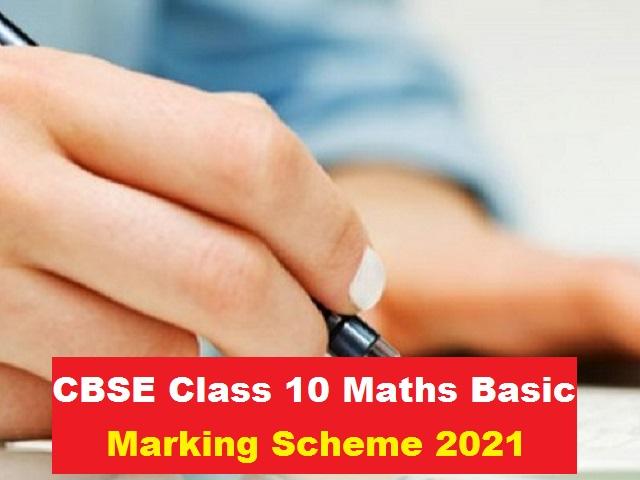 CBSE Class 10 Basic Maths Marking Scheme for Sample Paper 2021