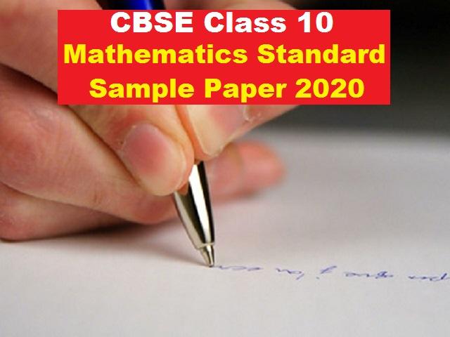 CBSE Class 10 Maths Standard Sample Paper for Board Exam 2021
