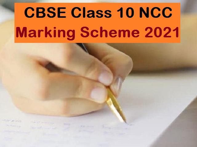 CBSE Class 10 NCC Marking Scheme for Sample Paper 2021