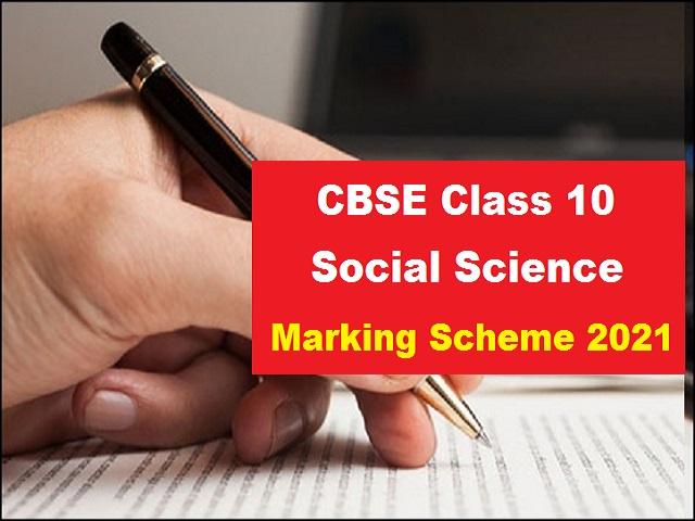 CBSE Class 10 Social Science Marking Scheme 2021