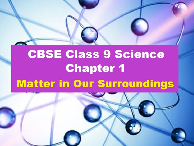 CBSE Class 9 Science Extra Questions Answers Chapter 1 Matter in Our Surroundings