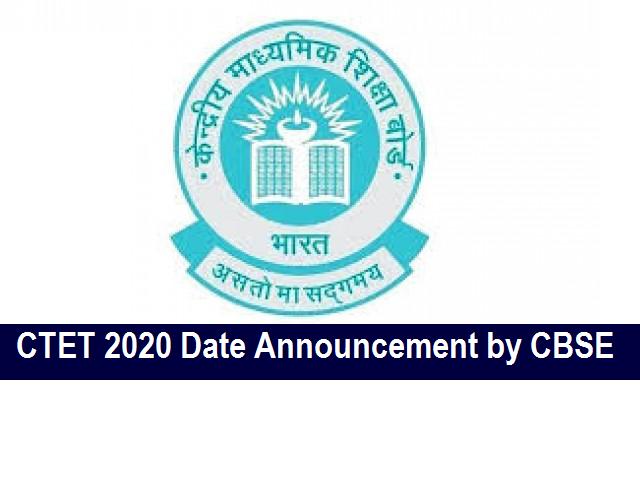 CTET 2020 Date