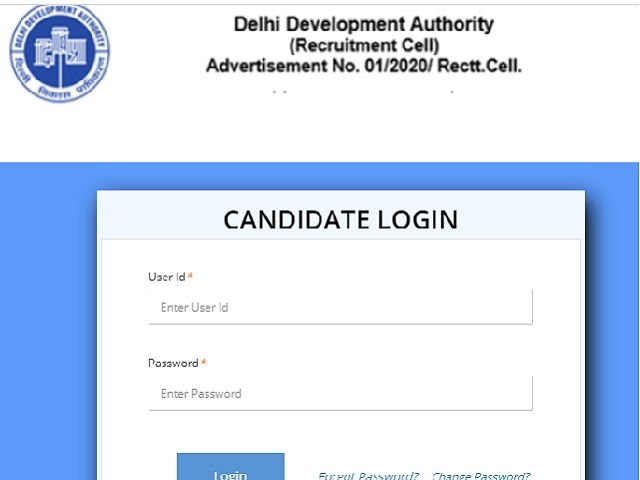 DDA Stenographer Admit Card 2020