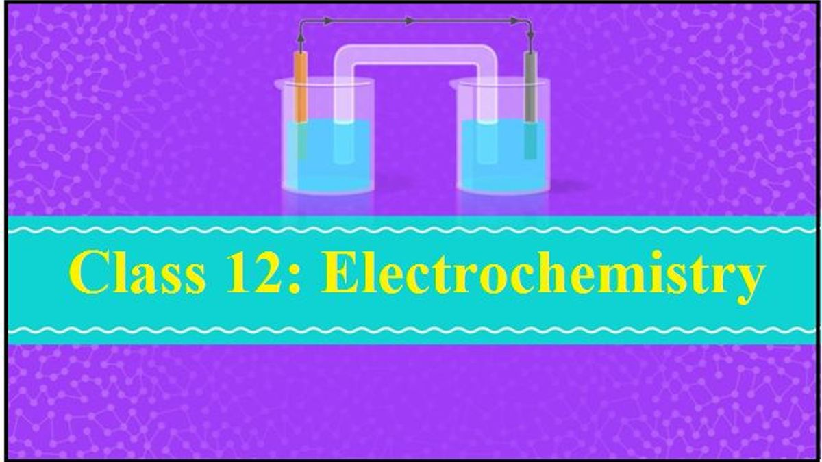 Electrochemistry: NCERT Exemplar Solutions