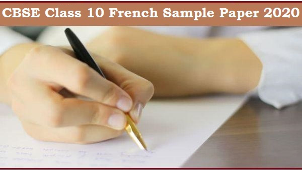 CBSE Class 10 French Sample Paper 2020