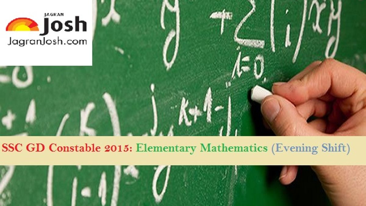ssc constable maths paper