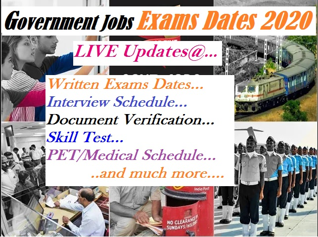 govt jobs exams date live update 2021