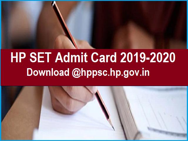 HP SET Admit Card 2019