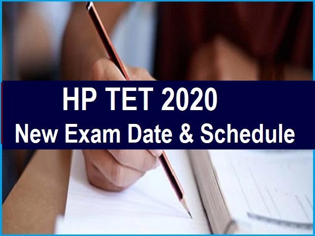 HP TET 2020 New Exam Date