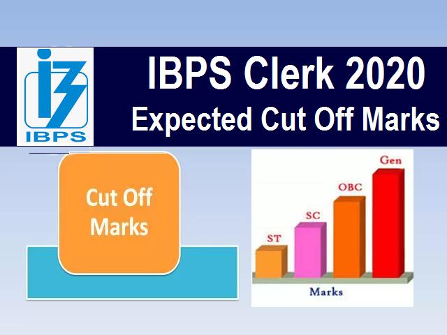 IBPS Clerk Cut Off 2020