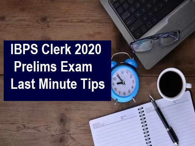 IBPS Clerk Prelims 2020