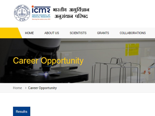 ICMR NIIH Recruitment for Lab Technician