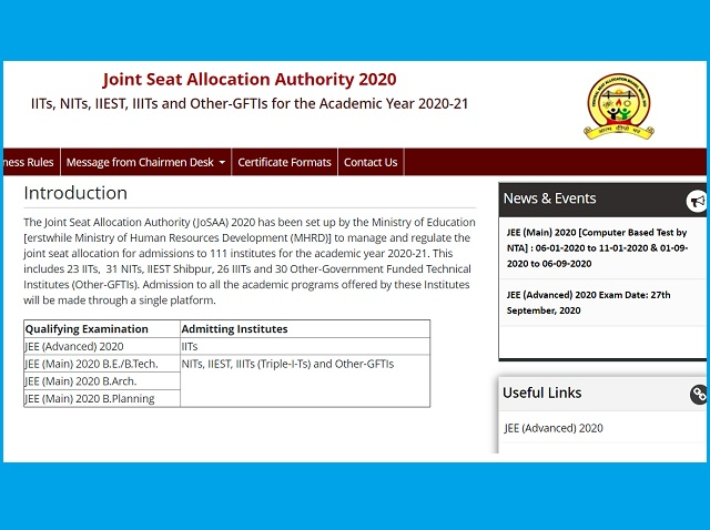 JoSAA Counselling 2020 Dates Released: Check Details & Updates
