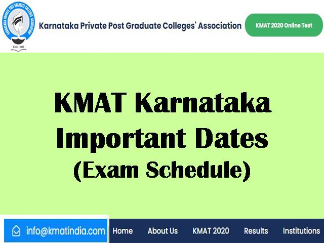 KMAT 2020 Exam Important Dates