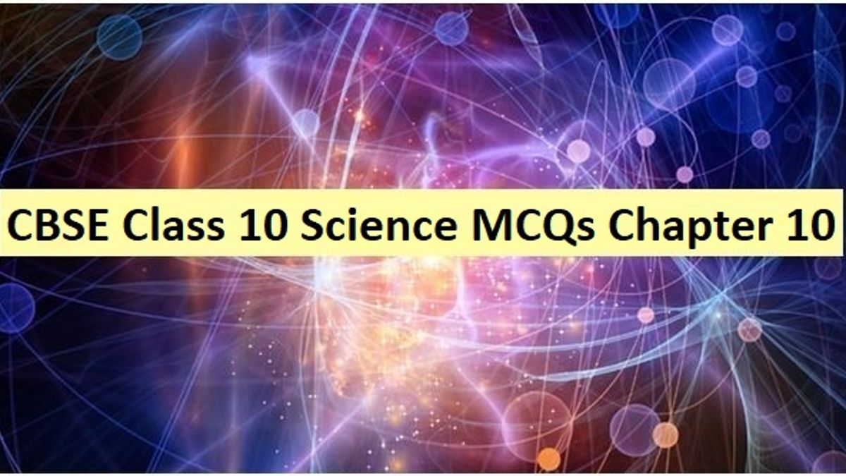 CBSE Class 10 Science MCQs Chapter 10 Light - Reflection and Refraction