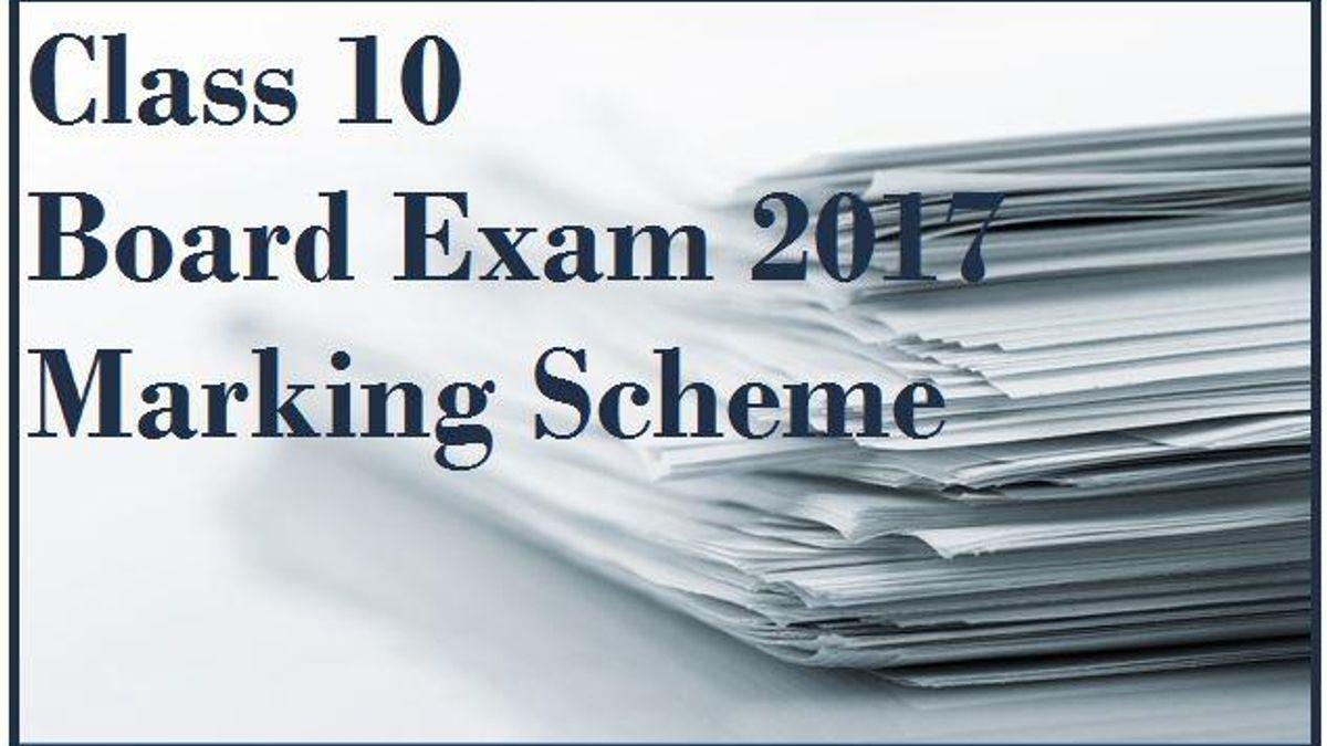 CBSE Class 10 Marking Scheme 2017: All subjects
